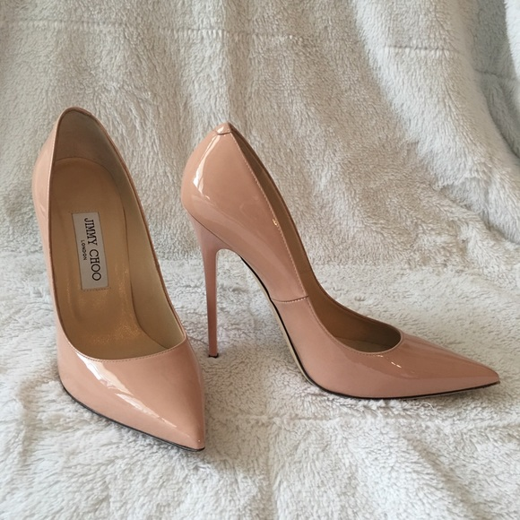 35cdd7ae4ef0 Jimmy Choo Shoes - Jimmy Choo Anouk Blush Patent heels Size 38 👠